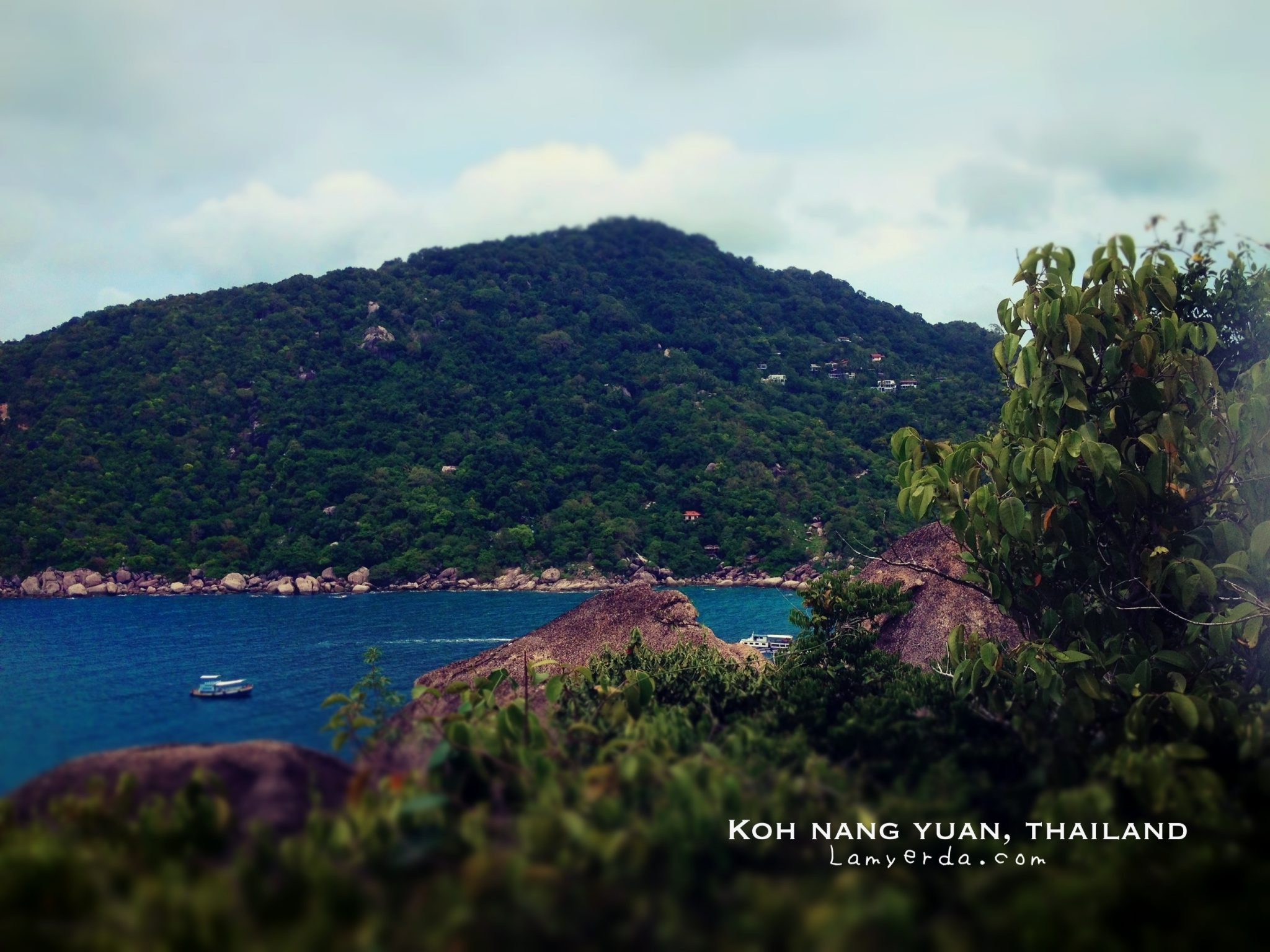 View from the other side of Koh Nang Yuan