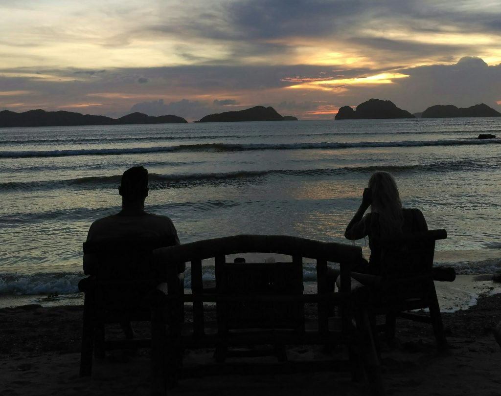 Sunset in El Nido Palawan