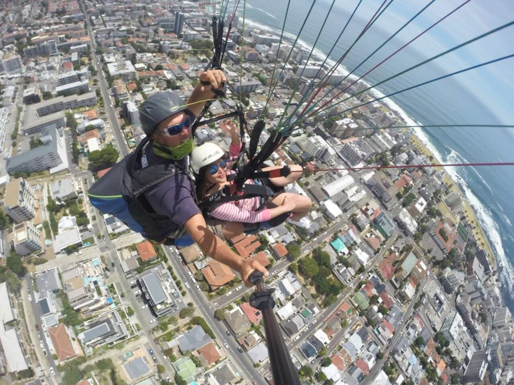 Paragliding Signal Hill seapoint view
